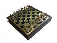 Шахматы 'Греческая мифология' в деревянном футляре синие (SK5BLU)