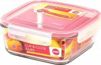 Квадратный стеклянный контейнер Emsa Clip&Close 1.25 л (EM508101)