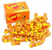 Подарок Блок жвачек 'Love is...' (апельсин-ананас)