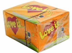 фото Блок жвачек 'Love is...' (апельсин-ананас) #2