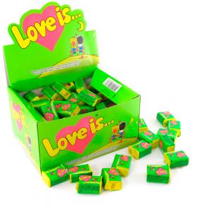 фото Блок жвачек 'Love is...' (яблоко-лимон) #2