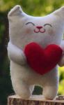 Подарок Подарочная игрушка 'Кот с красным сердцем'