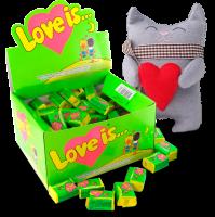 Подарок Супер подарок Любимому: игрушка + блок жвачек 'Love is...'