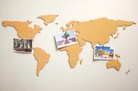 Подарок Пробковая карта 'Властелин мира'