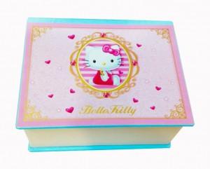 Подарок Детская музыкальная шкатулка 'Hello Kitty' (Голубая)