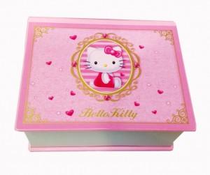 Подарок Детская музыкальная шкатулка 'Hello Kitty' (Розовая)