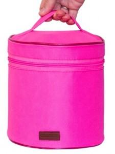 Подарок Круглый органайзер для косметики (Розовый)