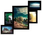 Подарок Мультирамка для фото 5 в 1 (черная)