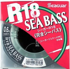 Шнур Seaguar R18 Sea Bass 150m PE0.6