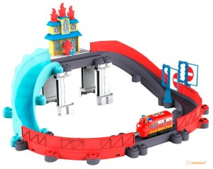 Спасение от пожара с паровозиком Уилсоном 'Chuggington' Tomy (LC54254)