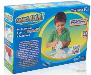 Набор для творчества Sands Alive! Учимся лепить (песок 454 г, лопатка) (25000-SA)