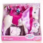 Интерактивная лошадка для куклы Baby Born 'Единорог' (свет, звук)