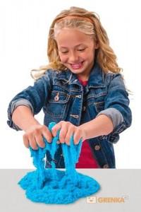 фото Набор для творчества 'Wacky-Tivities' Kinetic Sand Construction Zone (голубой, формочки, 283 г.) #2