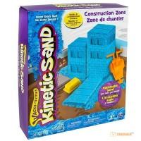 Набор для творчества 'Wacky-Tivities' Kinetic Sand Construction Zone (голубой, формочки, 283 г.)