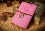 Подарок Винтажный блокнот (розовый)