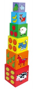 Набор кубиков Viga Toys 'Пирамидка' (59461)