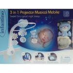 Мобиль музыкальный с проектором Infantino 3 в 1, голубой (004896I)