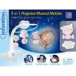 Мобиль музыкальный с проектором Infantino 3 в 1, серый (004915I)