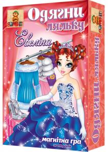 Магнітна гра Bombat Game 'Одягни ляльку: Евеліна' (1857C)