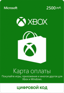 Xbox Live - карта оплаты 2500 рублей
