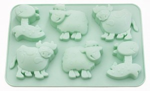 Форма для кексов Fissman 'Лошадка, овечка, коровка' (BW-6648.6)