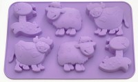 Форма для кексов Fissman 'Лошадка, овечка, коровка' (BW-6649.6)