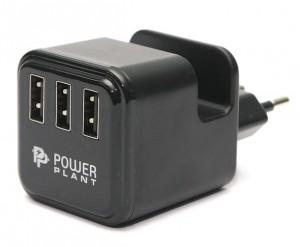 Сетевое зарядное устройство PowerPlant W-360 3xUSB: 220V, 3.4A (DV00DV5065)