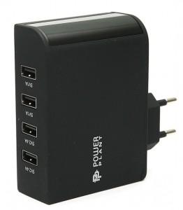 Сетевое зарядное устройство PowerPlant W-660 4xUSB: 220V, 6.8A (DV00DV5066)