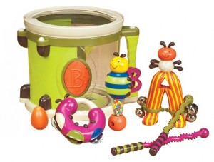 Музыкальная игрушка Battat 'Парам-пам-пам' (8 инструментов, в барабане) (BX1007Z)