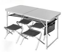 Стол складной+4 стула Norfin Runn NF (NF-20310)