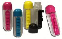 Подарок Бутылка из пищевого пластика для таблеток, 600 мл (NO830)