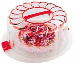 Подарок Контейнер для торта Snips, красный (28 см)
