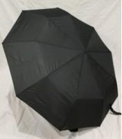 Подарок Зонт антишторм полуавтомат в 3 сложения (черный)