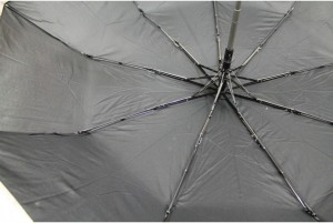 фото Зонт антишторм полуавтомат в 3 сложения (черный) #3