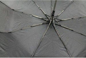 фото Зонт антишторм полуавтомат в 3 сложения (черный) #4