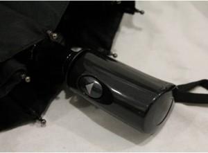 фото Зонт антишторм полуавтомат в 3 сложения (черный) #6