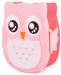 Подарок Ланч бокс Сова, розовая