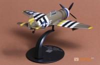 фигурка Модель истребителя-бомбардировщика Republic P-47 Thunderbolt