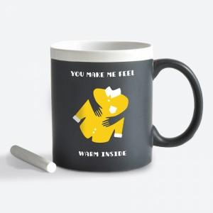 Подарок Чашка керамическая Gifty 'Feel warm. Man' 320 мл, с мелком (AA-0004400)