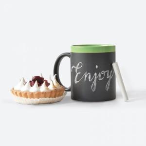 фото Чашка керамическая Gifty 'Hug me, babe! Green' 320 мл, с мелком (AA-0004921) #2
