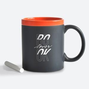 Подарок Чашка керамическая Gifty 'Book lover. Orange' 320 мл, с мелком (AA-0002419)