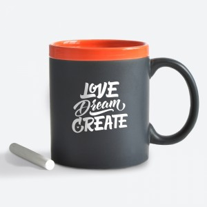 Подарок Чашка керамическая Gifty 'Love. Orange' 320 мл, с мелком (AA-0003300)
