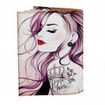 фото Обложка на паспорт 'Гламурная девушка с туннелями' (Эко-Кожа) #2