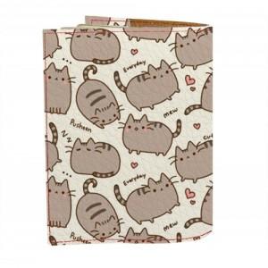 фото Обложка на паспорт 'Толстые коты фон' (Эко-Кожа) #2