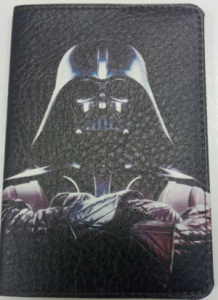 Подарок Обложка на паспорт  'Дарт Вейдер' (Эко-Кожа)