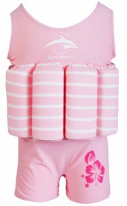 Купальник-поплавок Konfidence Floatsuits Pink Berton Stripe 2-3 года (FS02SC)