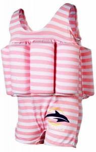 Купальник-поплавок Konfidence Floatsuits Pink Stripe 4-5 лет (FS02-4/5L)