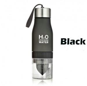 Подарок Бутылка H2O water bottles, черная, 650 мл