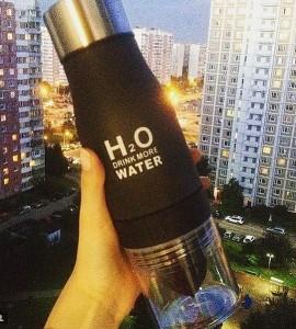 фото Бутылка H2O water bottles, черная, 650 мл #4