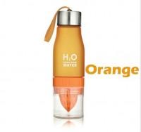 Подарок Бутылка H2O water bottles, оранжевая, 650 мл